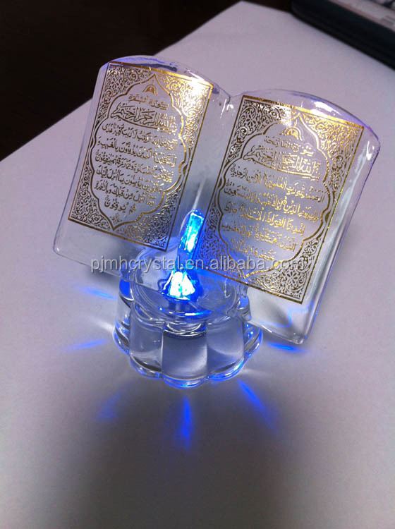 hot sell crystal islamic decorative religious wedding souvenirs MH-ZJ005