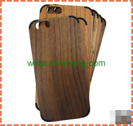 New Arrival Wood Bamboo +PC Blank Phone Cover Case For Iphone 6S