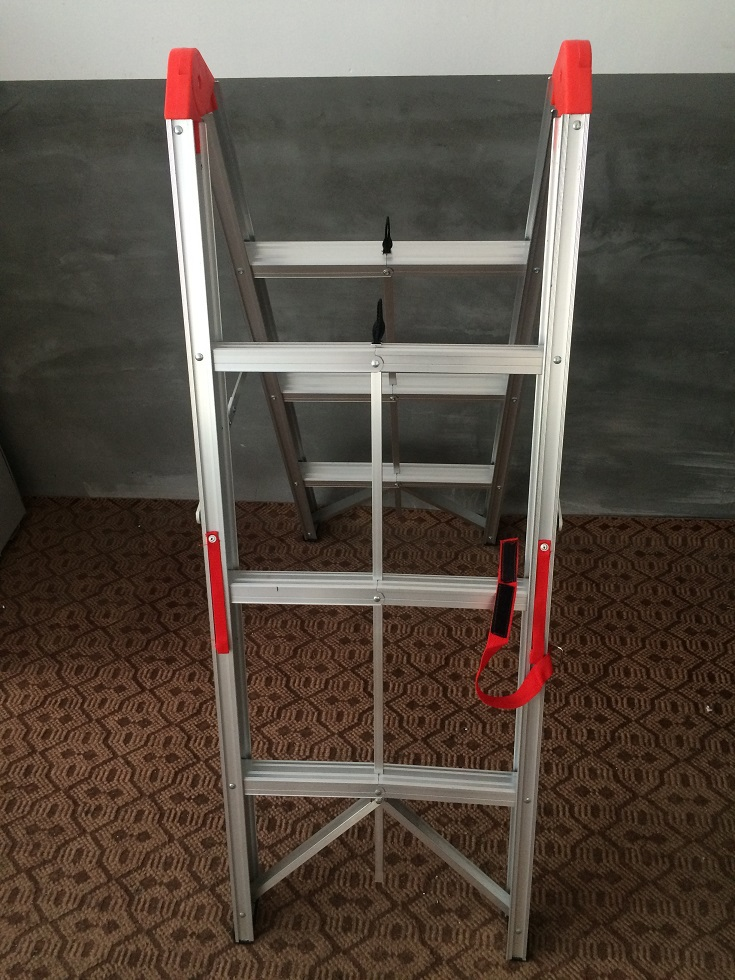 Lightweight folding free standing a type ladder fold up for Folding stairs
