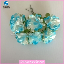Mothers Days Gift Mulberry Paper Artificial Mini Carnation Flowers Mothers Days Gift (PFOP-06)