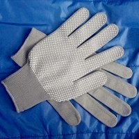 bleaching white cotton glove with pvc dots glove safety working glove