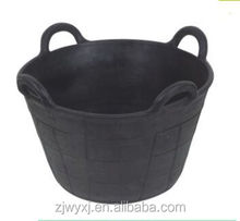 recycled rubber buckets,large rubber container,China supplier