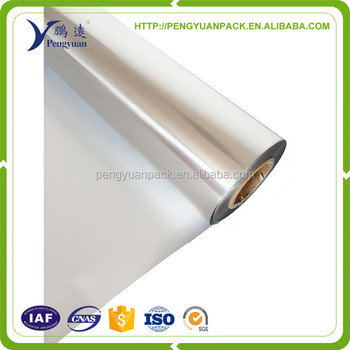 PE coated aluminum foil,metallized aluminum pet film