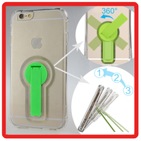 360 degree Round plastic bracket Transparent tpu back cover cell Phone accessory case For apple iphone 6 6S plus