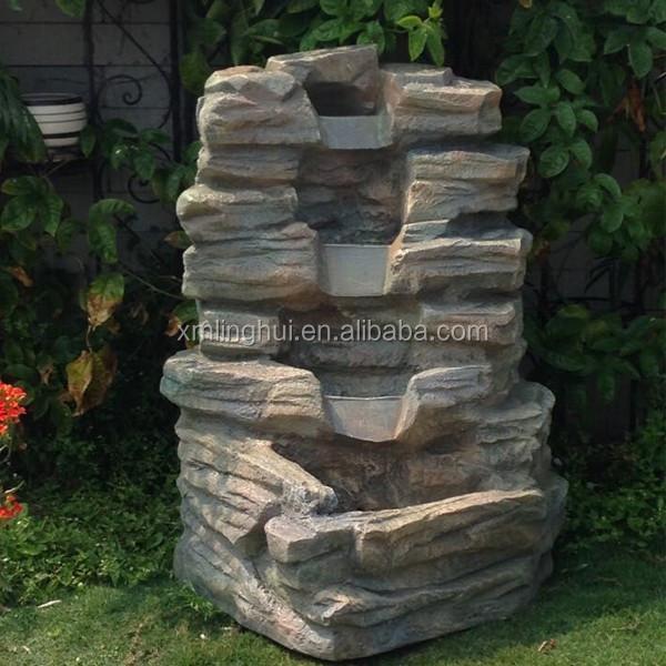 handmake herstellung harz steingarten wasserfall brunnen andere gartenverzierung wasserspiel. Black Bedroom Furniture Sets. Home Design Ideas