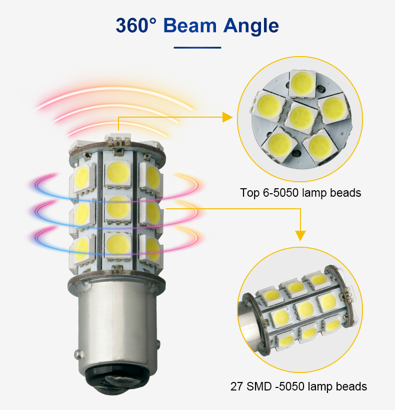 1034 1141 1076 1156 Ba15S 27Smd 5050 Solar Marine Navigation Beacon Pendant Light Led