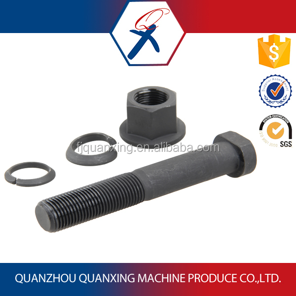 Black phasphated wheel bolt and nut, washer