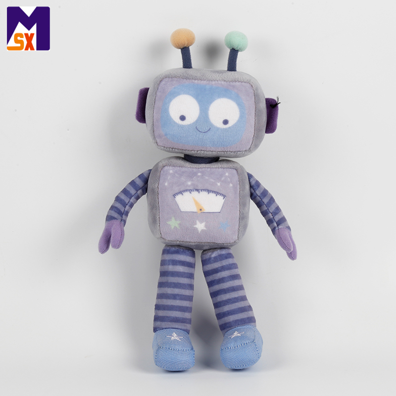 Custom kids soft character toys stuffed robot doll plush