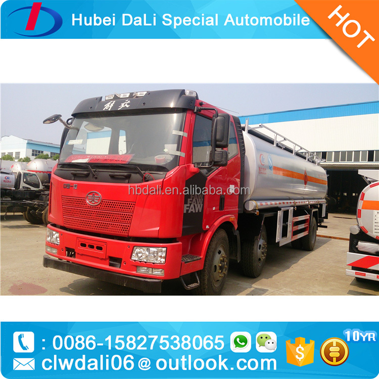 FAW 6*4 fuel tanker truck stock pictures