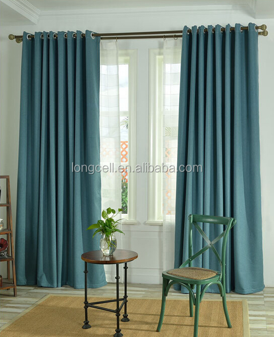 Good price blackout fabric linen curtain for hotel