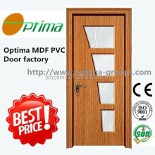 MDF PVC interior door zhejiang jiangshan optima factory