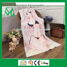 Hot hot sexy photo girls beach towel in cotton