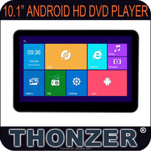10.1 inch Android Headrest DVD with Bluetooth, Wifi, Mirror, Dvd Player, USB, SD, FM function