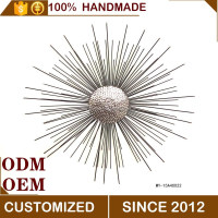 metal radial flower hanging wall decoration