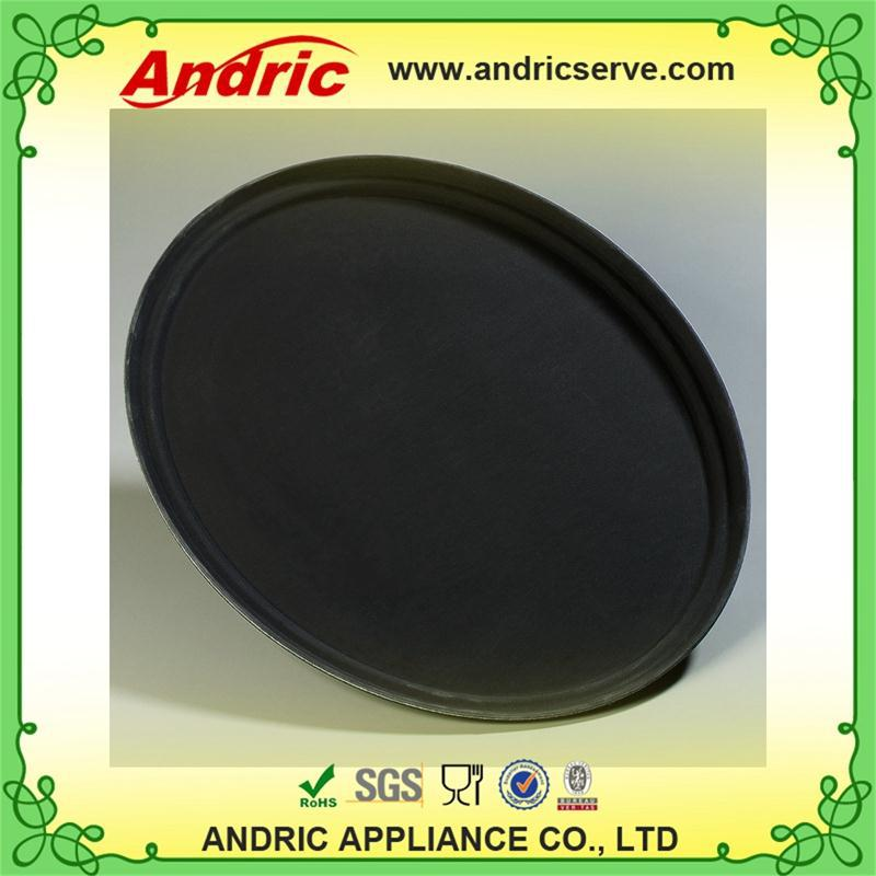 hotel use eco-friendly round anti-slip plastic tray