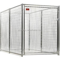 hot dip galvanized iron dog kennel/pet cage/outdoor large dog house supplier