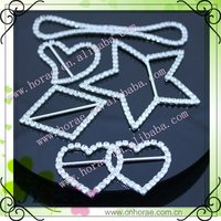 fashion invitation ribbon rhinestone buckle