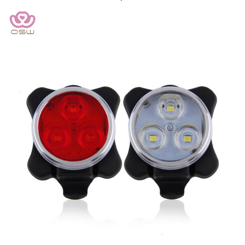 LED Waterproof Bicycle Front Rear Tail Helmet Red Flash Lights Safety Warning Lamp Cycling Safety Caution Light