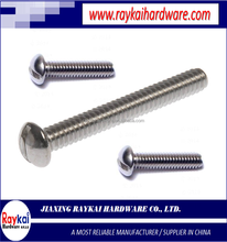 factory direct wholesale high quality carton steel all sizes & lengths of metric slotted round head cap screws