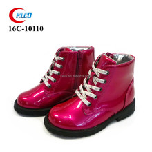 kids wholesale flat home pu leather safety boots