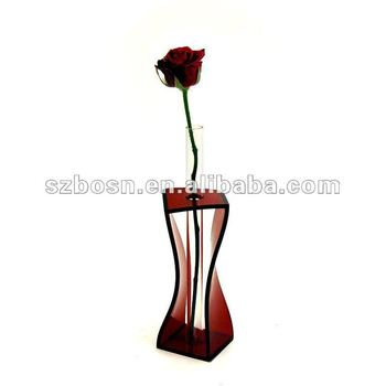 Acrylic Vase & Lucite Flower Holder Flower Display Stand