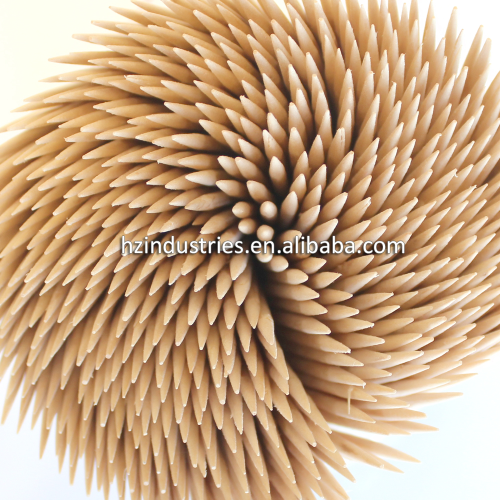 The selection of wooden toothpicks for sale
