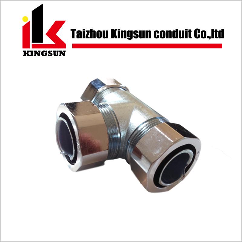 Stainless steel flexible pipe tee way conduit fittings