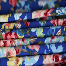 Garment Buyer In USA Flower Printing Nylon Spandex Rayon Jersey Non Woven Fabric