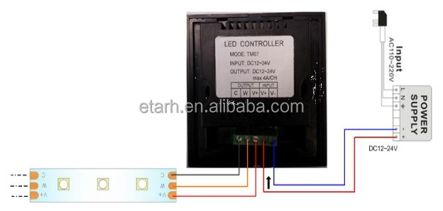 Touch Panel LED Color Temperature Controller