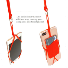 Free samples and Wholesale silicone rubber lanyard cell phone case