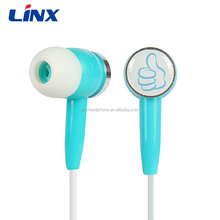 LINX Wholesale Colorful Earphones Headphones with 3.5MM Plug for Mobile Phones