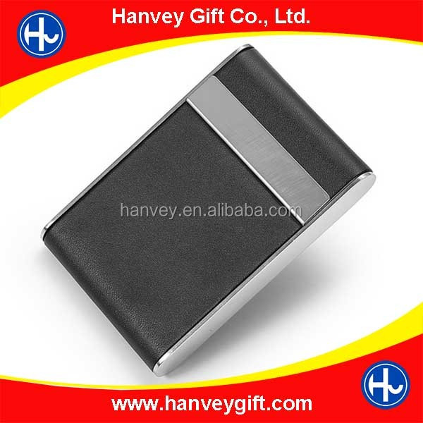 Factory price promotion leather credit business id card case/card box/card wallet, cheap card holder wholesale