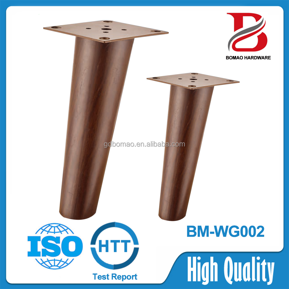High quality wood grain metal caps for furniture legs