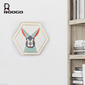 Colored rabbit design pentagon wall hangings indoor decorations for christmas