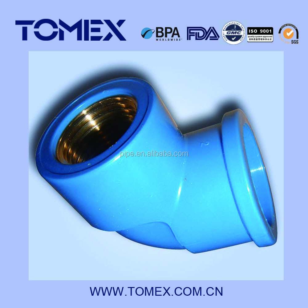 Copper To Pvc : Nbr female elbow copper thread pvc pipe fitting buy