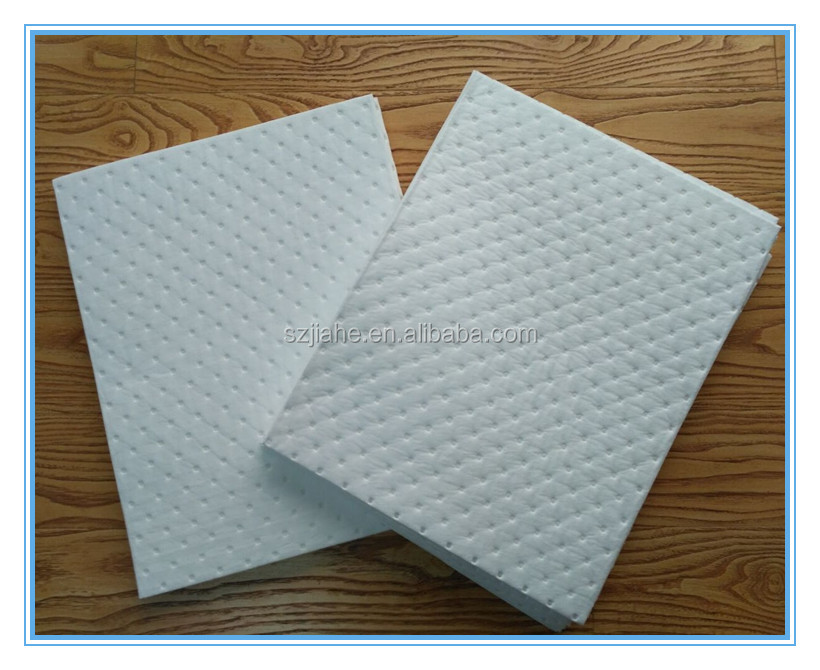 Dimpled perforated Oil absorbent pad