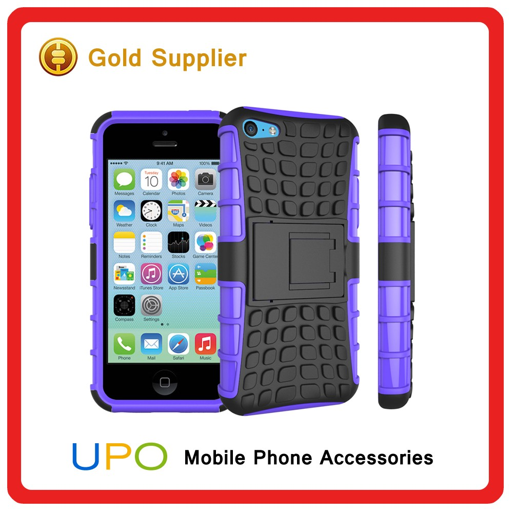 [UPO] 3 in 1 Heavy Duty Hybrid Combo kickstand Silicon Hard PC Mobile Phone Case for iphone 5c