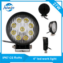 hiwin 27W 4.2 inch E-mark approved 10-60V motorcycle led driving lights oval led work light HW-5527