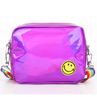 2018 new arrival summer small pu shoulder bag for women cheap mini crossbody bag shiny leather messenger bag