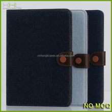 New product retro jean flip leather case with stand for ipad mini 2, leather handbag for tablet