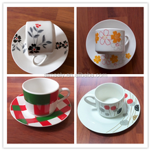 one cup coffee maker ceramic coffee cup set square cup with saucer