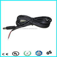 2.1mm 5.5mm dc male cable 70mm
