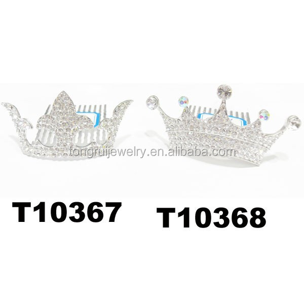 wholesale glitter miniature rhinestone crown boys crowns