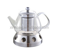 Low price glass teapot with heating