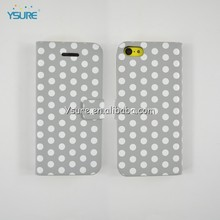 Polka dots Stylish PU rotating Stand Leather Case For iphone5C