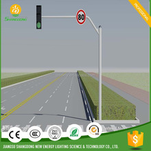galvanized steel plate traffic signal light pole
