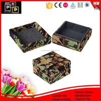 Military camouflage durable korean tin box for candy