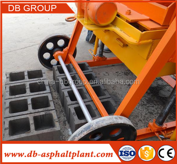 QTJ4-45 Portable/ Mobile Egg Laying Manual Cement Concrete Block Making Machine In India