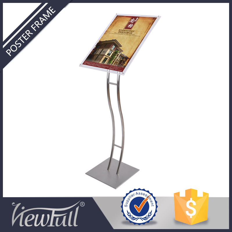 Creative mirror stand alone advertising display