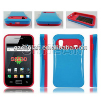 Wholesale Glossy Jelly candy color silicone+PC case for samsung galaxy ace s5830